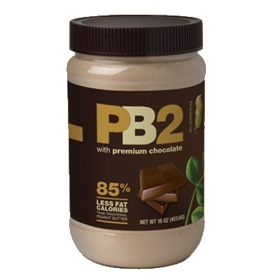 **PB2 POWDER PEANUT BUTTER, 453g (1lb Jar) - Chocolate
